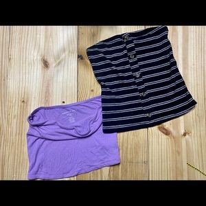 Lot of Two Crop/Tube Tops Size Small